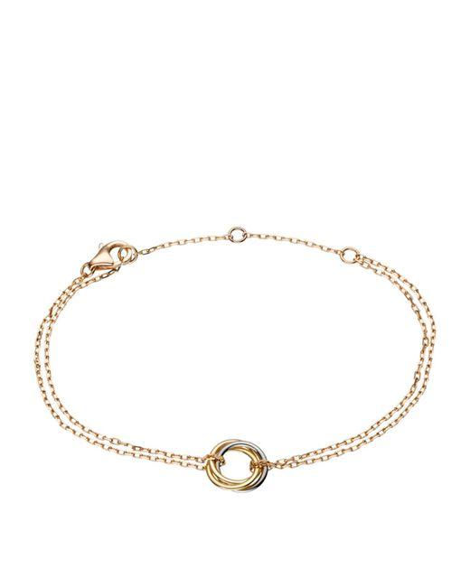 Cartier - Metallic Trinity De Double Chain Bracelet - Lyst