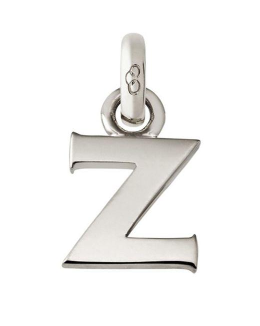 Links of London - Metallic Sterling Silver Letter Z Charm - Lyst