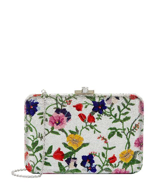 Judith Leiber - Multicolor Morning Glory Slim Slide Clutch - Lyst