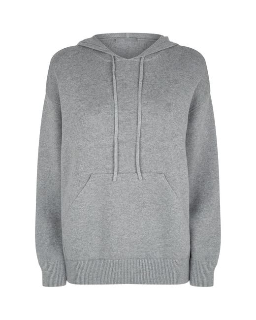 Vince | Gray Oversized Cotton Hoodie | Lyst