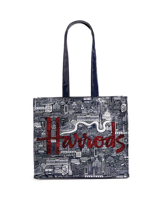 Harrods Multicolor Picture Font Shoulder Bag