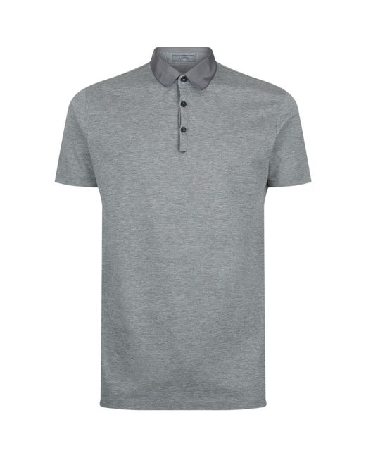 Lanvin | Gray Twill Collar Polo Shirt for Men | Lyst
