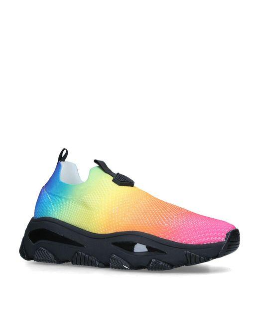 Kurt Geiger Blue Multicoloured Knit Lettie Sneakers for men