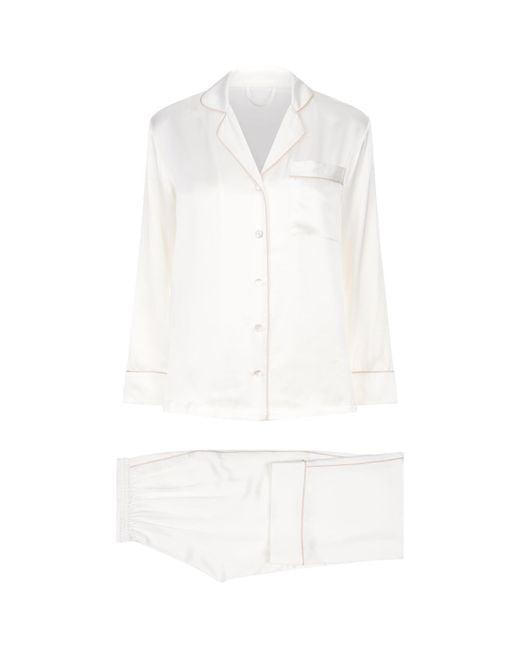 Fleur Of England - Pink Silk Pyjama Set - Lyst
