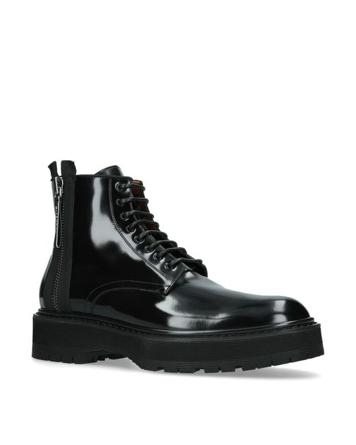 Givenchy - Black Ridged Sole Boots for Men - Lyst