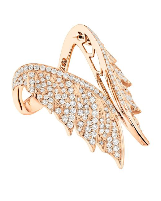 Stephen Webster | Pink Magnipheasant Pav Open Feather Ring | Lyst