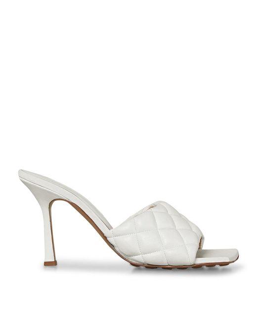 Bottega Veneta White Lido Leather Mules