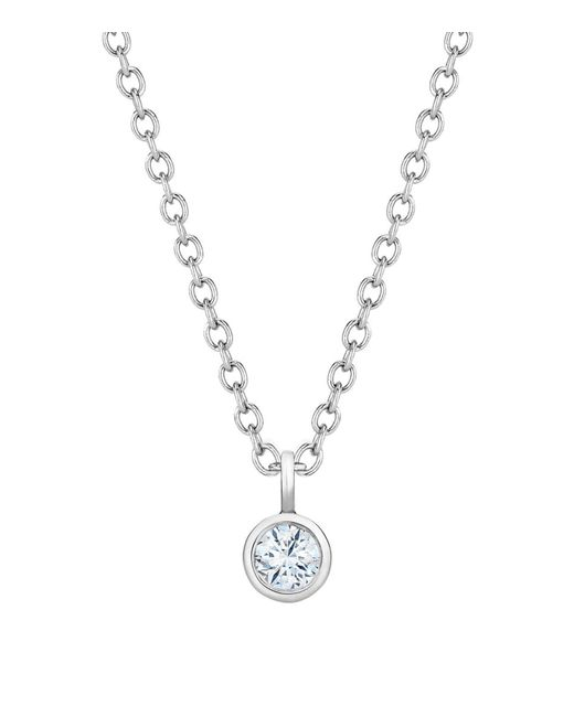 De Beers - Metallic My First White Gold One Diamond Pendant - Lyst