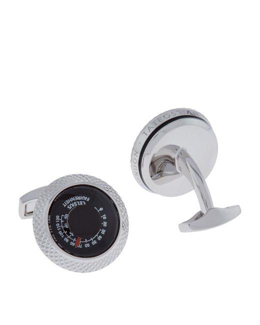 Tateossian | Metallic Round Thermometer Cufflinks for Men | Lyst