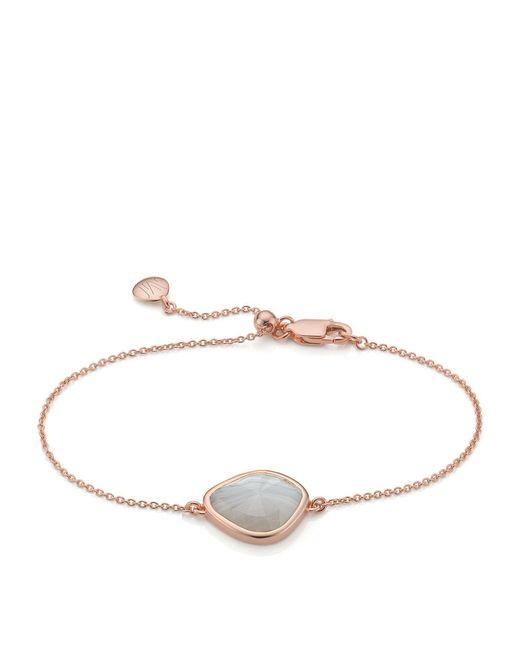 Monica Vinader - Metallic Siren Nugget Grey Agate Bracelet - Lyst