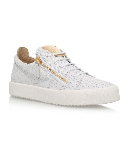 Giuseppe Zanotti | White Croc Print Low Top Sneakers | Lyst