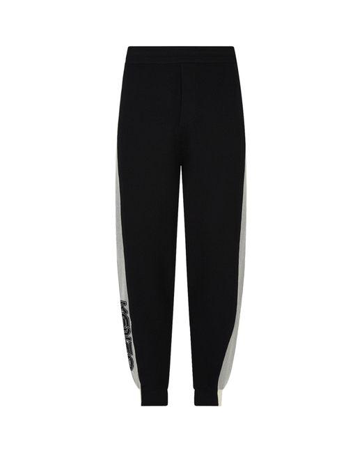 KENZO Black Colour-block Sweatpants for men