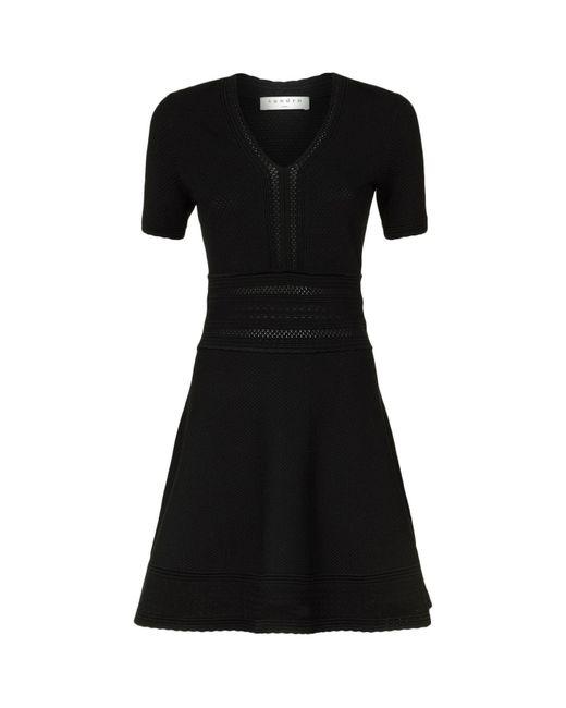 Sandro | Black Stretch Knit Dress | Lyst