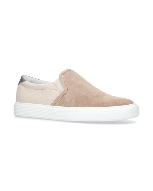 Brunello Cucinelli - Natural Panelled Urano Skate Shoes - Lyst