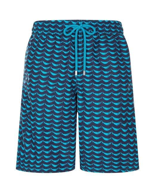 Vilebrequin - Blue Hammock Fish Print Swim Shorts for Men - Lyst