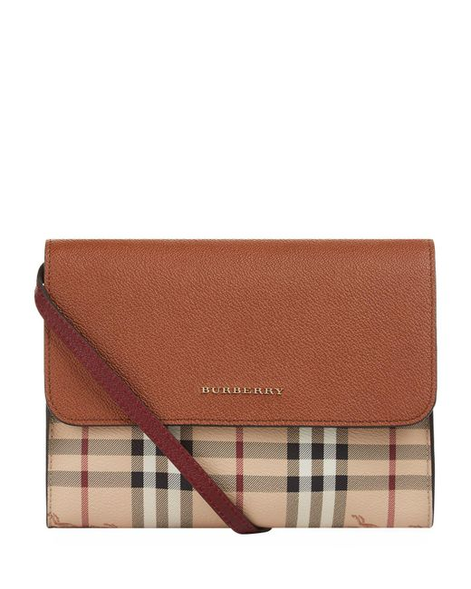 Burberry   Natural Small Loxley Leather And Haymarket Check Cross Body Bag   Lyst