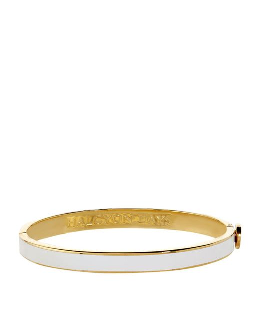 Halcyon Days - Natural Skinny Gold Bangle - Lyst