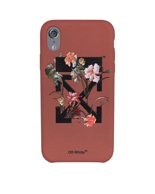 Off-White c/o Virgil Abloh Multicolor Flowers Iphone X Case