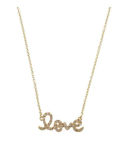 Sydney Evan   White Love Script Necklace   Lyst