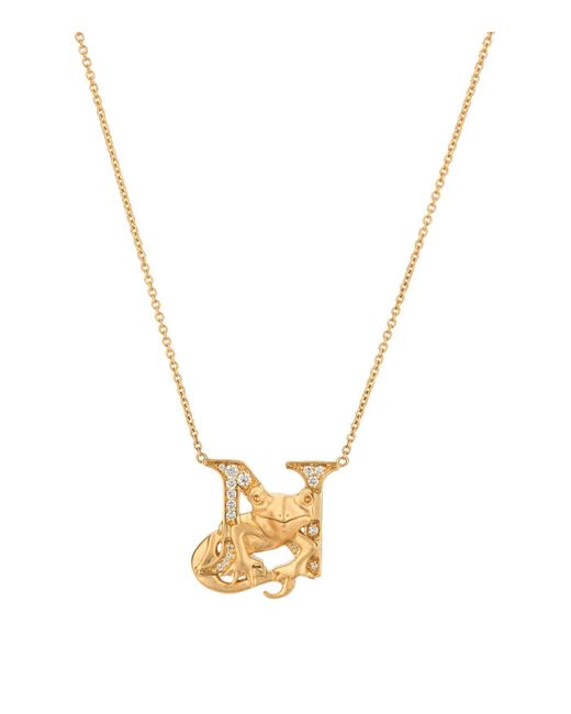 Stephen Webster Metallic Yellow Gold And Diamond Fish Tales N Necklace