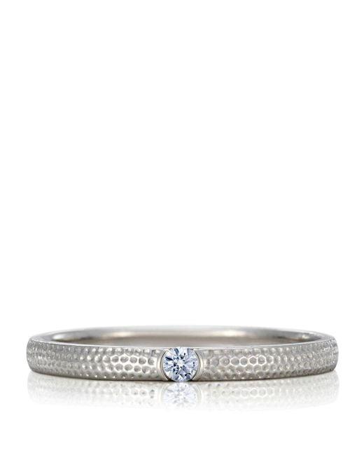 De Beers - Metallic White Gold And Diamond Azulea Ring - Lyst
