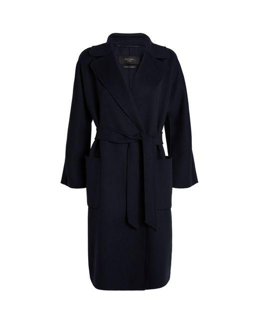 Weekend by Maxmara Blue Wool-blend Coat