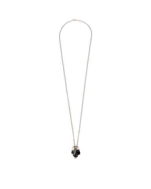 Alexander McQueen - Metallic Divided Skull Necklace for Men - Lyst
