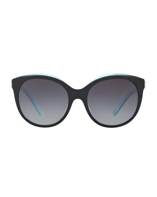 Tiffany & Co - Black Love Round Sunglasses - Lyst