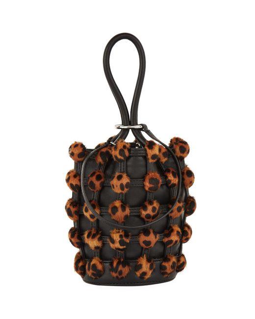 Alexander Wang - Brown Leopard Bucket Bag - Lyst