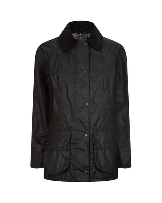 Barbour Black Beadnell Waxed Jacket