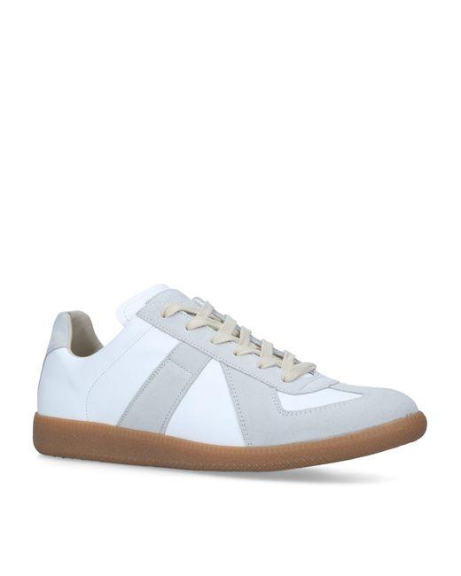 Maison Margiela White Leather Replica Sneakers for men