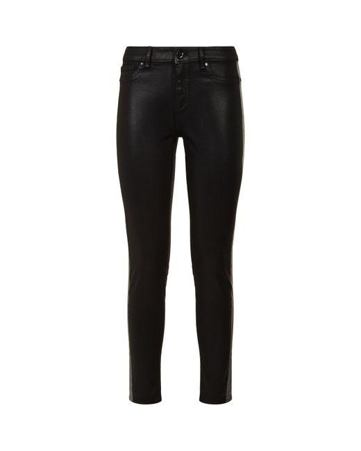 Elie Tahari - Black Skinny Azella Wet Look Jeans - Lyst