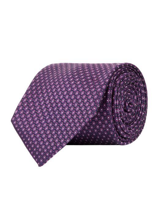 Corneliani - Purple Circle Pattern Tie for Men - Lyst