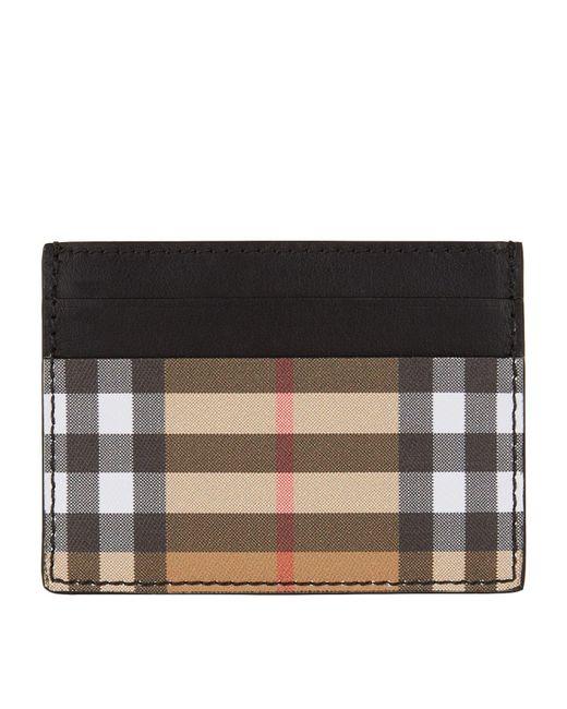 Burberry - Black Sandon Vintage Check Leather Card Case - - Lyst