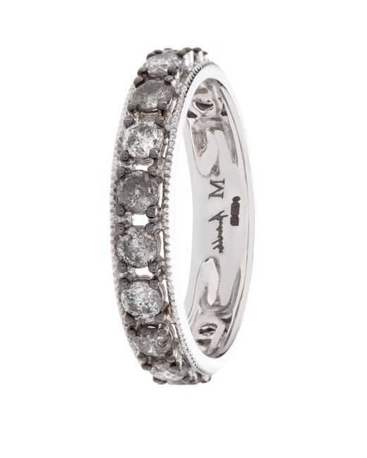 Annoushka - Metallic Dusty Diamond Eternity Ring - Lyst