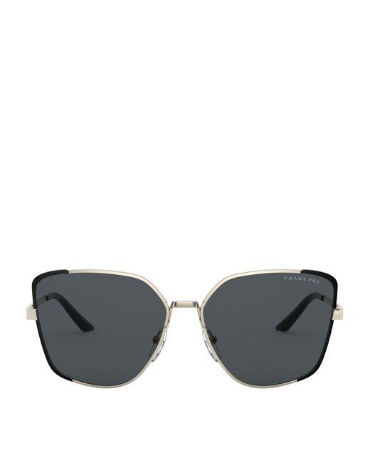 Prada Metallic Metal Butterfly Sunglasses