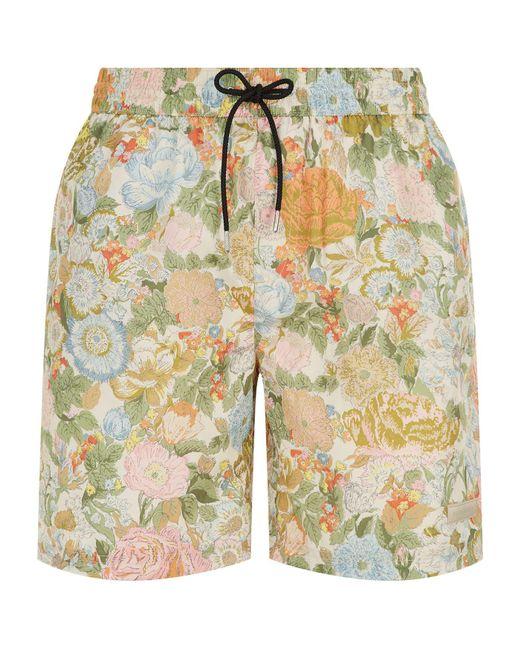 Burberry - Orange English Garden Swim Shorts for Men - Lyst