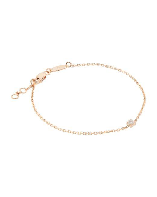 RedLine - White Rose Gold And Solitaire Diamond Chain Bracelet - Lyst