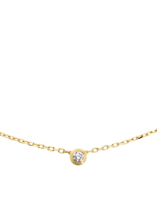 Cartier | Metallic Small Yellow Gold Diamants Lgers Necklace | Lyst