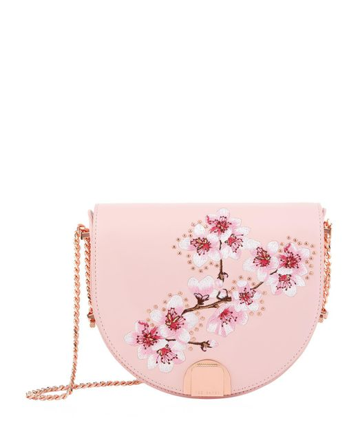 Ted Baker - Pink Susy Floral Moon Bag - Lyst