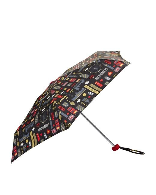 Harrods Multicolor Glitter London Umbrella