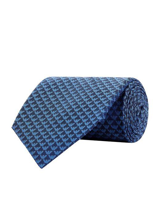 Emporio Armani - Blue Mini Eagle Tie for Men - Lyst