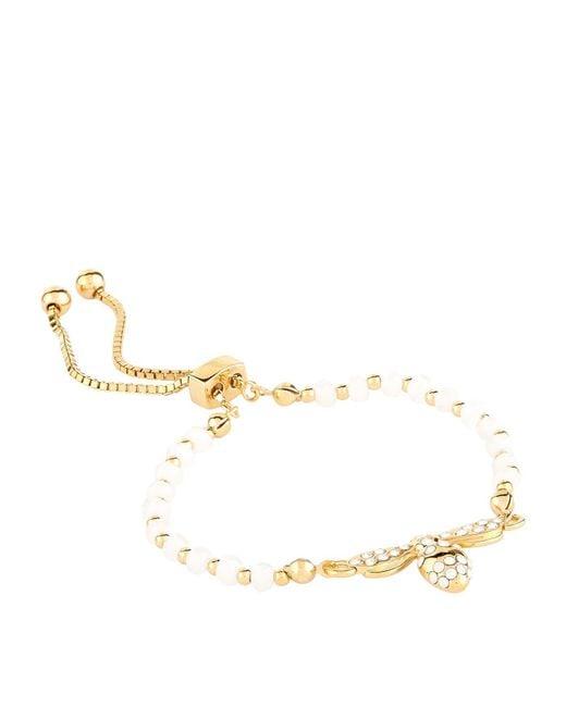 Halcyon Days - White Bumble Bee Friendship Bracelet - Lyst