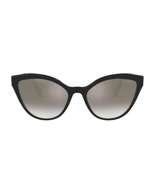 Miu Miu Black Cat Eye Sunglasses