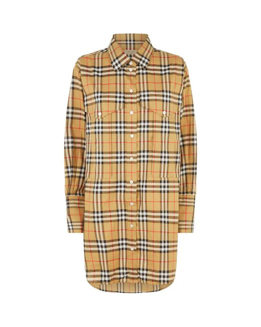 Burberry - Yellow Vintage Check Shirt - Lyst