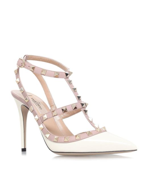 Valentino Natural Rockstud Studded Leather Pumps