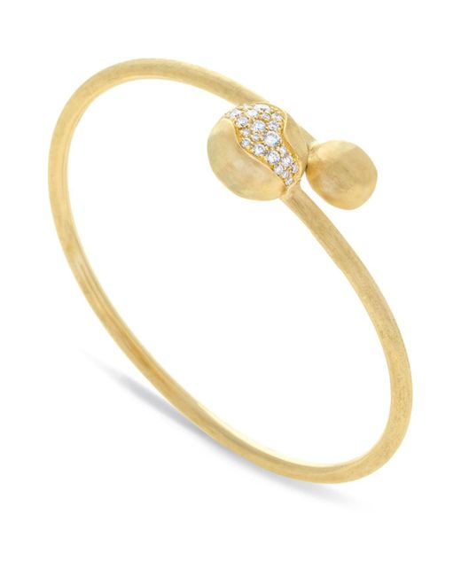 Marco Bicego - White Yellow Gold Africa Wrap Bangle - Lyst