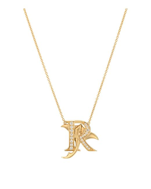 Stephen Webster Metallic Yellow Gold And Diamond Fish Tales R Necklace