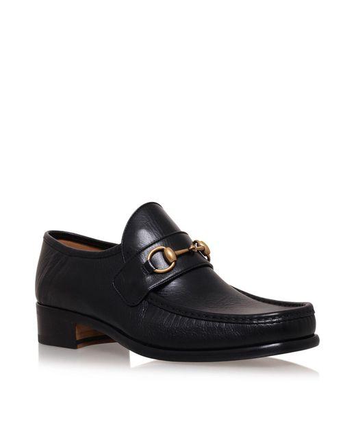 Gucci | Black Vegas Horsebit Loafers for Men | Lyst