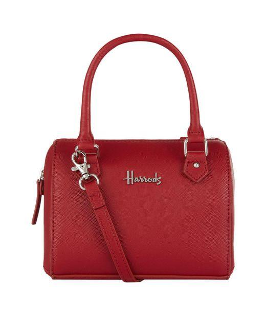 Harrods - Red Micro Mini Barrel Bag - Lyst